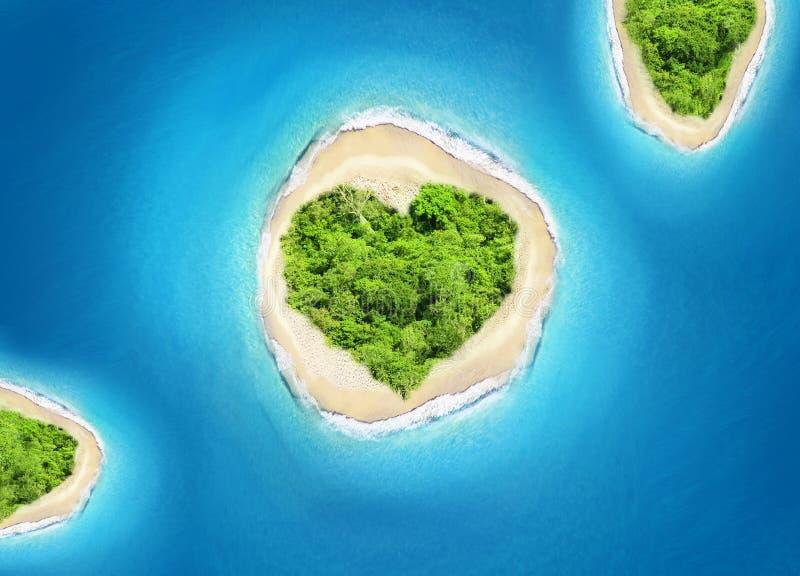 Island heart shape royalty free stock image
