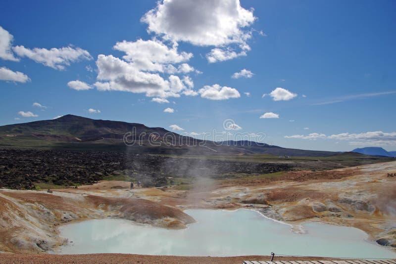 Island-heiße Quelle lizenzfreie stockbilder