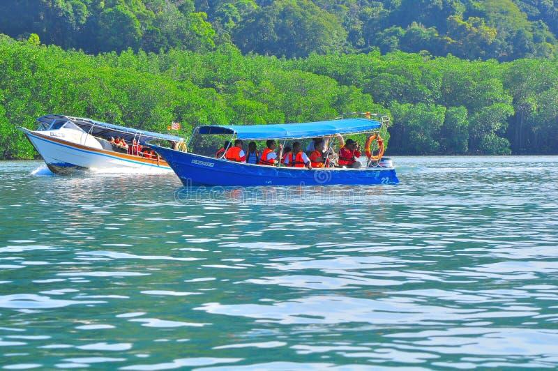 Island Hopping Boats To Beautiful Tropical Island Editorial Photo