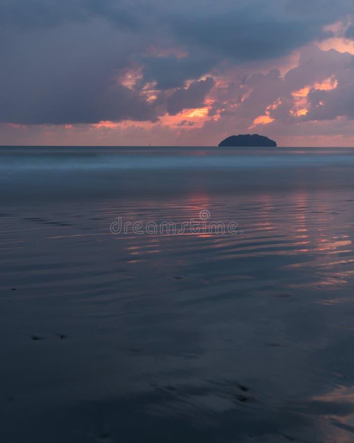 Lankayan Island: Sunset At The Beach In Kota Kinabalu Sabah Borneo Stock
