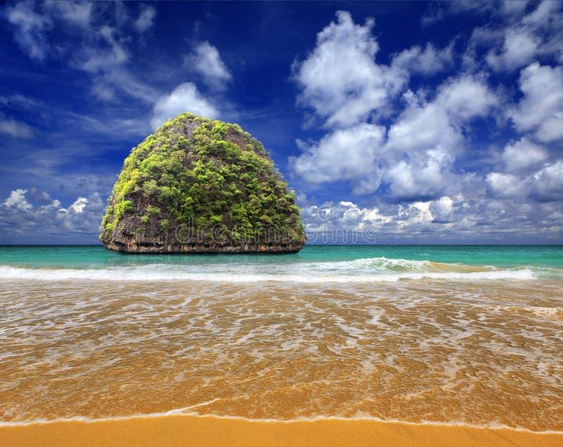 Island in Indian ocean stock image