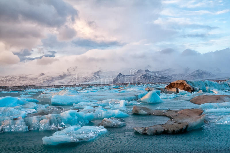 Island isberg arkivfoto