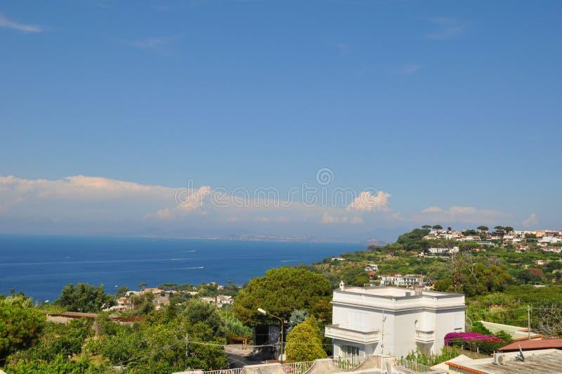 island of ischia in Italy stock photography