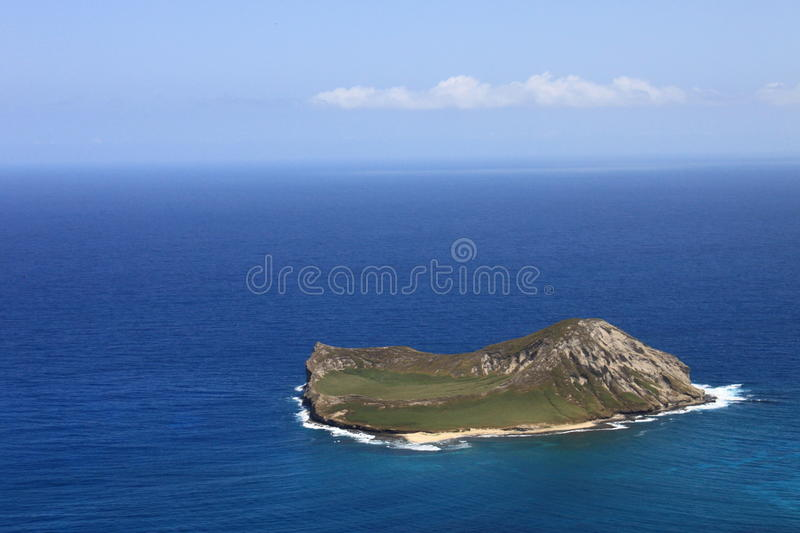 Island in Hawaii royalty free stock image