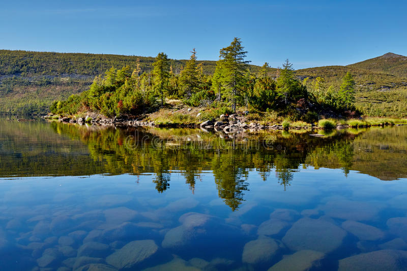 Download Island. Jack Londons Lake. Kolyma Stock Photo - Image of magadan, jack: 64487264