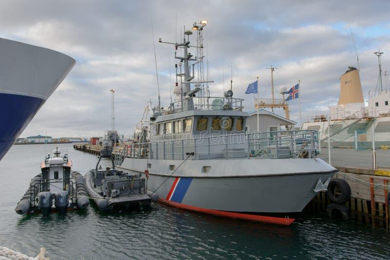 Island-Küstenwache lizenzfreie stockfotos