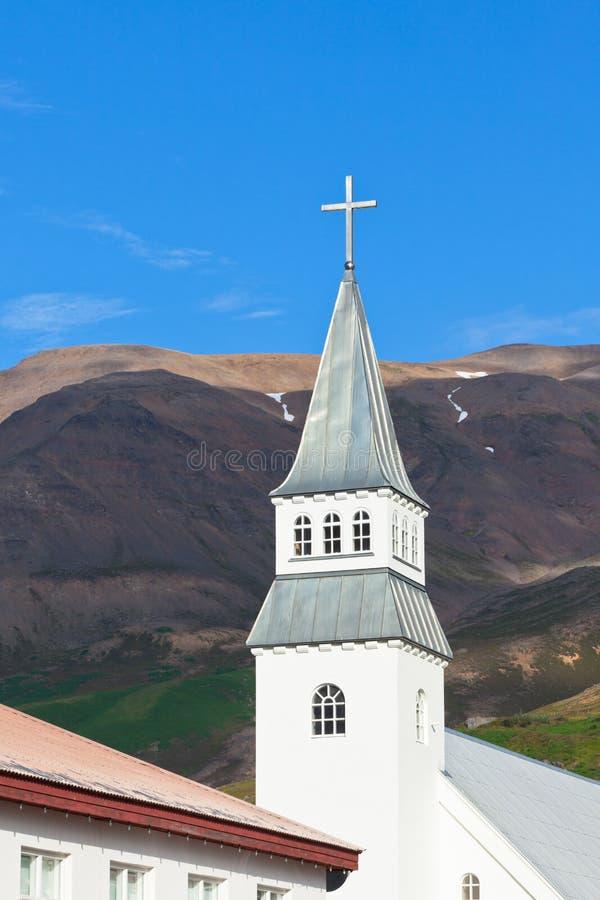 Island-Kirche Lizenzfreie Stockbilder