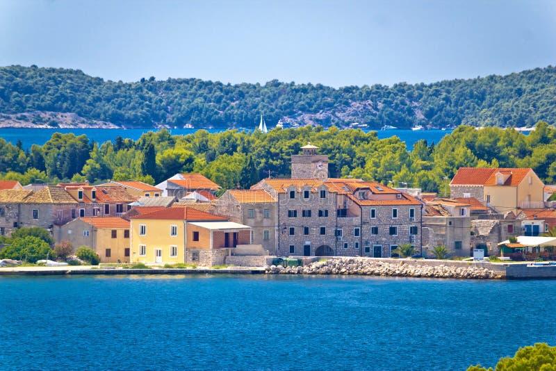 Island of Krapanj waterfront view royalty free stock image