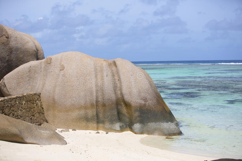 Download Island La Digue stock image. Image of rock, background - 37941497