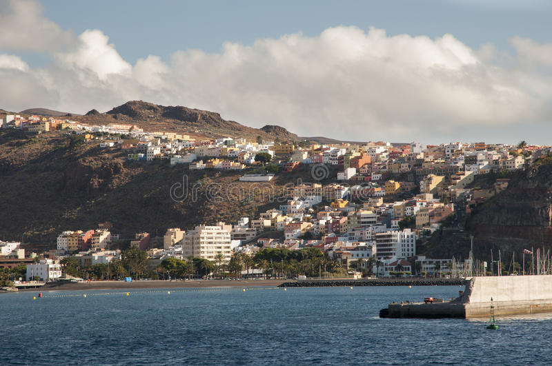 Island la Gomera. In the Canary Islands royalty free stock images
