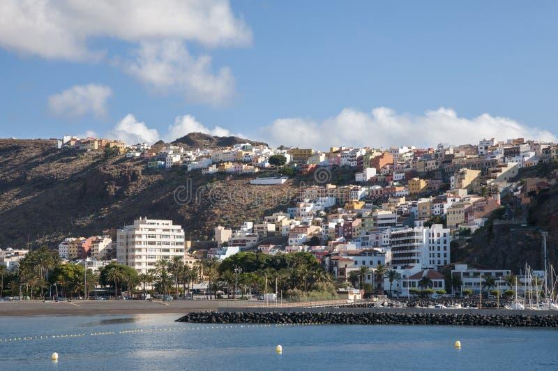 Island la Gomera. In the Canary Islands stock photo