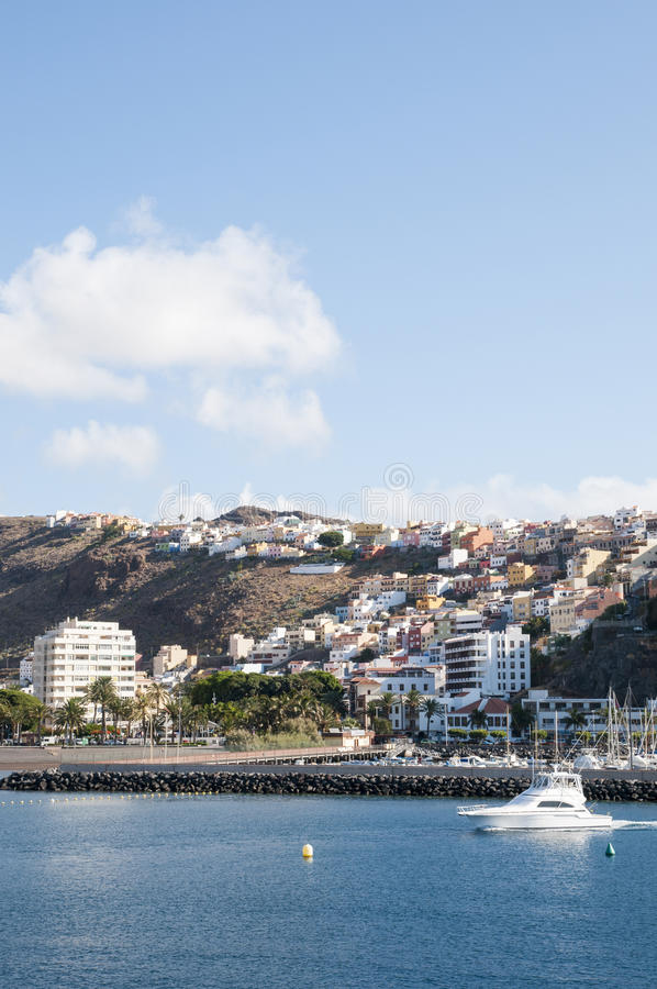 Island la Gomera. In the Canary Islands stock photography