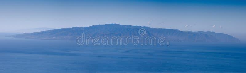 Island of La Gomera from Tenerife royalty free stock photo