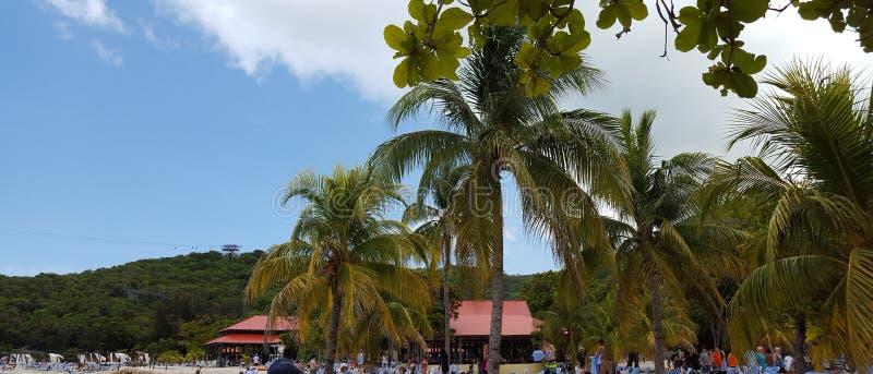 The island Labadee Haiti royalty free stock images