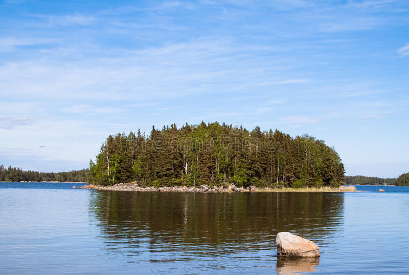 Download The island on the lake stock image. Image of blue, scandinavian - 25715423