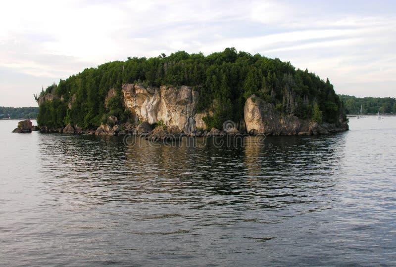 Island on lake. royalty free stock photo