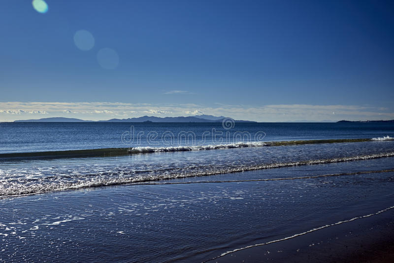 Island landscape stock photo