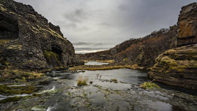 Island landskapaffärsföretag royaltyfri foto