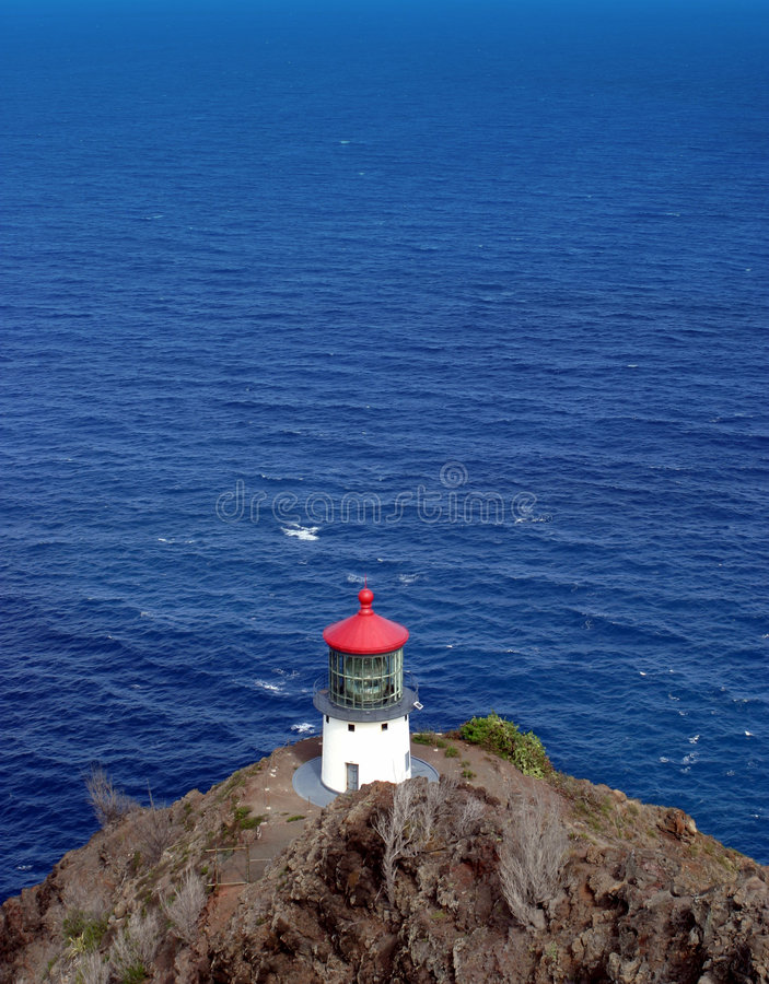 Download Island Lighthouse stock image. Image of oahu, vista, alone - 228491