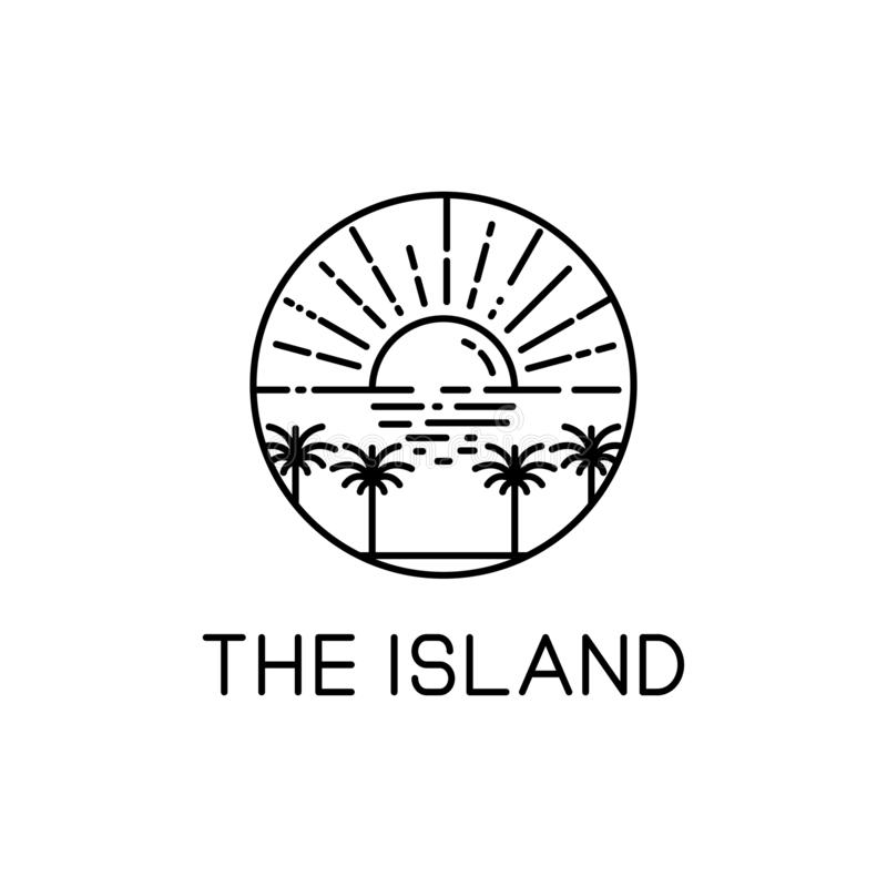 The island line art royalty free illustration