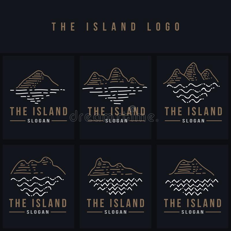 The island line logo vector illustration stock illustration