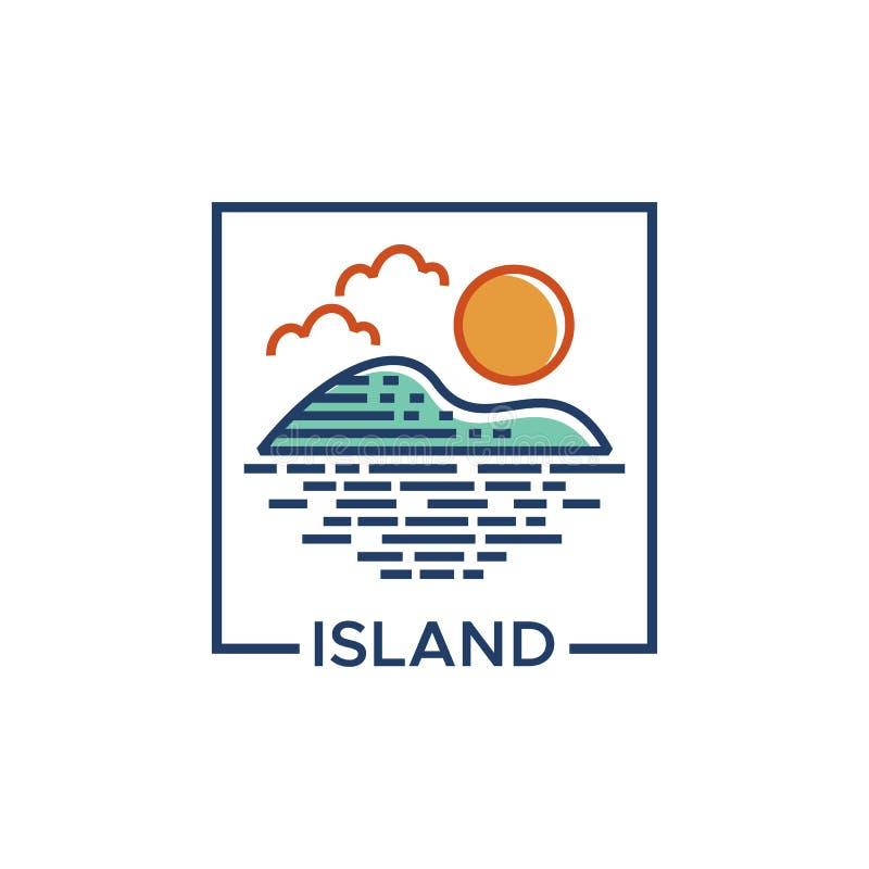 Island logo vector illustration design royalty free illustration