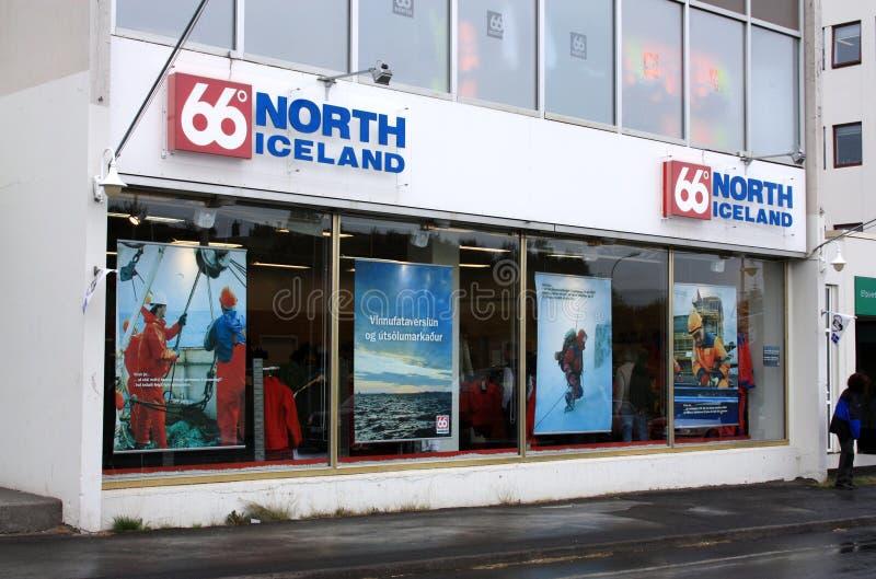 Island - Marke 66ºN lizenzfreies stockbild