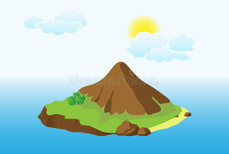 Island With Mountain Royalty Free Stock Images