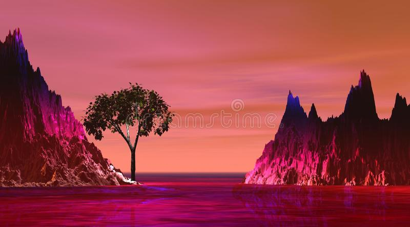 Island and mountain pink