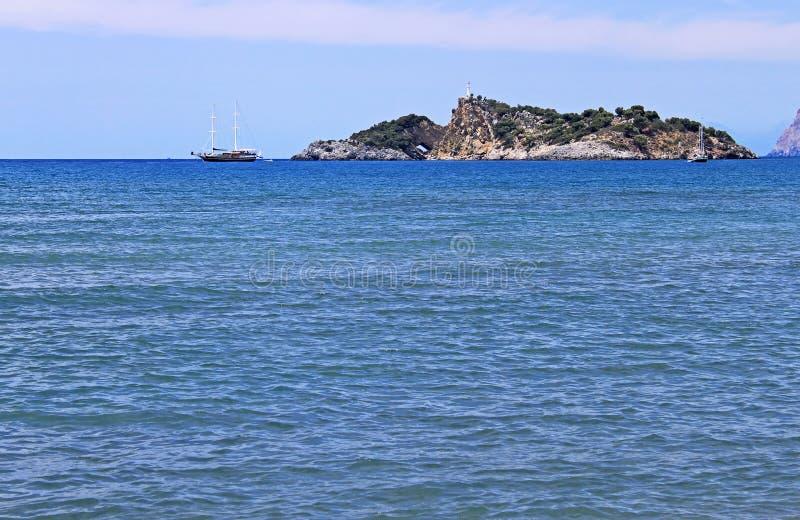 Island near Iztuzu beach stock images