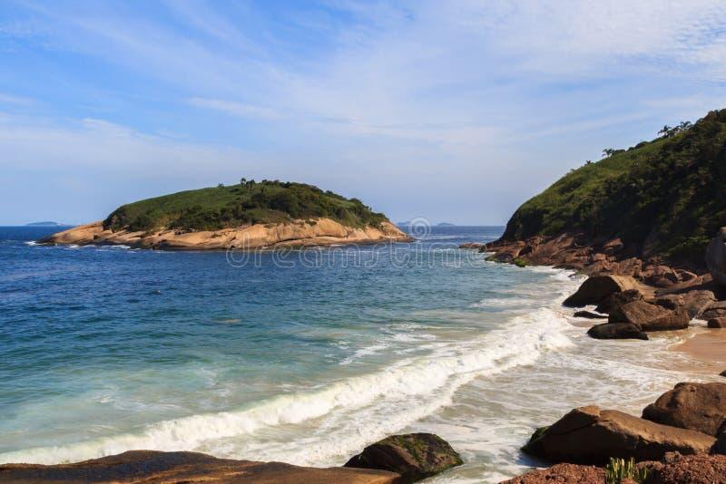 Island near Piratininga beach Niteroi royalty free stock image