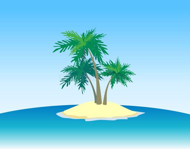 Island In The Ocean Stock Photo
