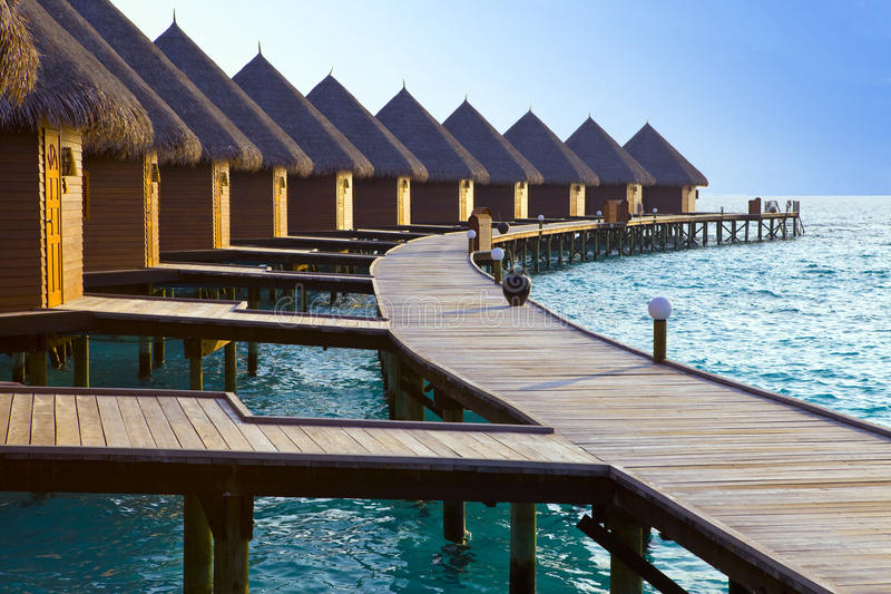 Download Island In Ocean, Maldives  Maldives.   Villa On Pi Stock Image - Image: 13822047