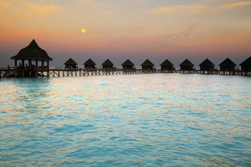 Download Island In Ocean, Maldives. Night. Stock Image - Image: 14357403