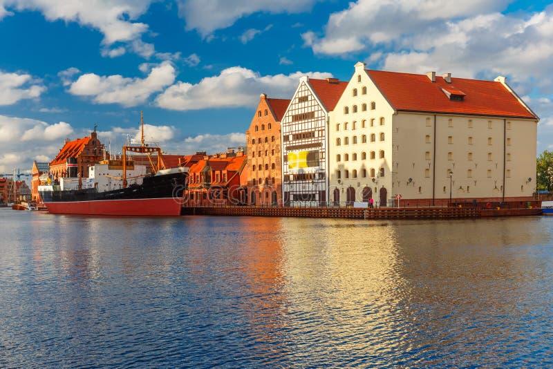 Island Olowianka and Motlawa in Gdansk, Poland royalty free stock photos