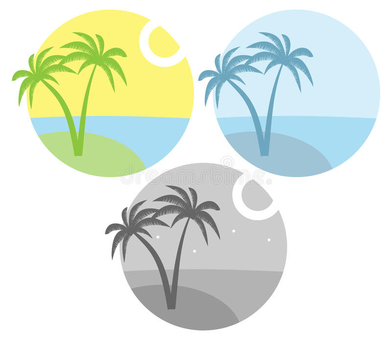 Island With Palm Tree Royalty Free Stock Photography