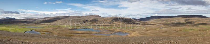 Island panorama royaltyfria bilder