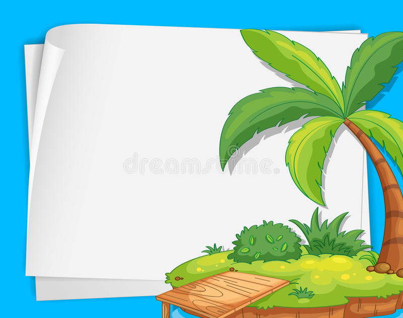 Island On Paper Stock Image
