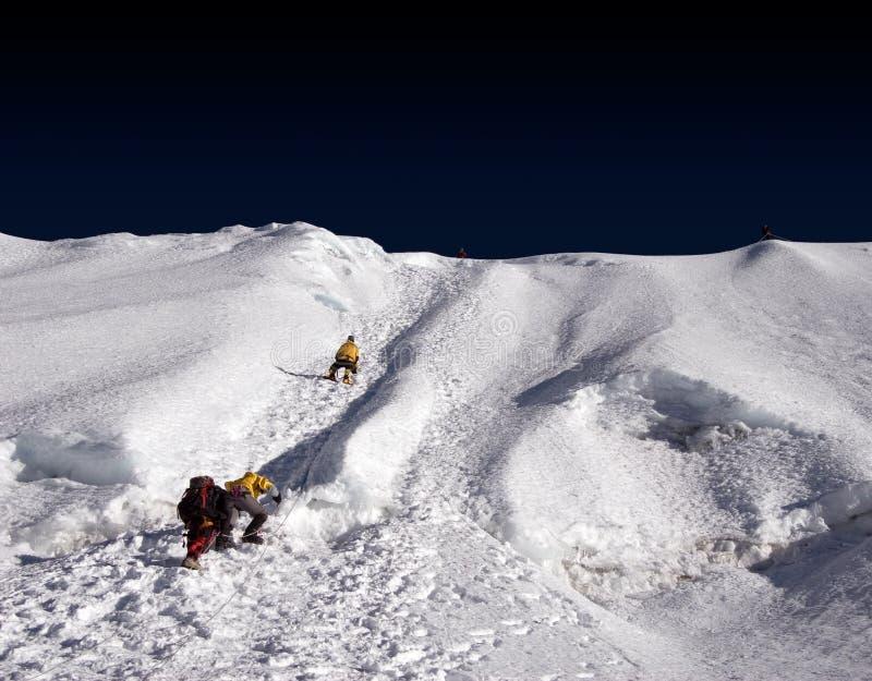 Island Peak Ridge - Nepal stock images