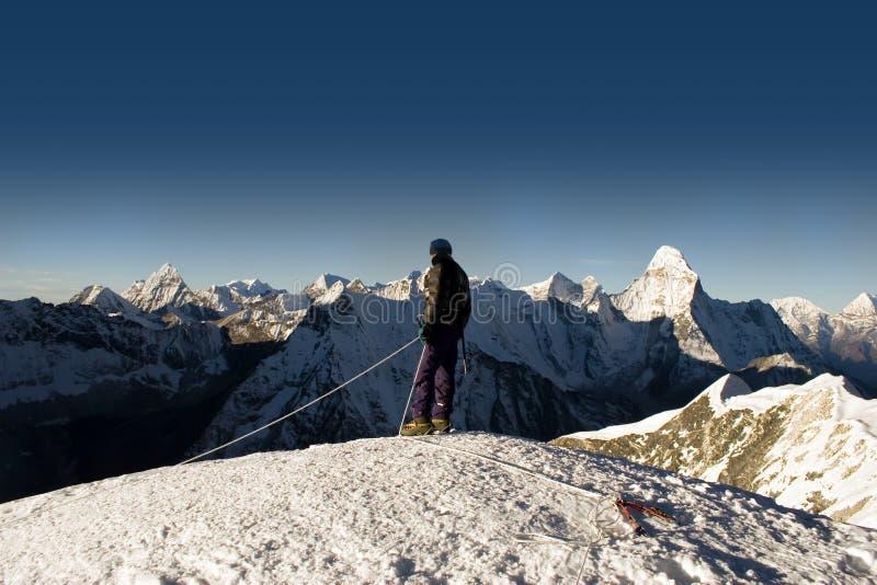 Island Peak Summit - Nepal stock images