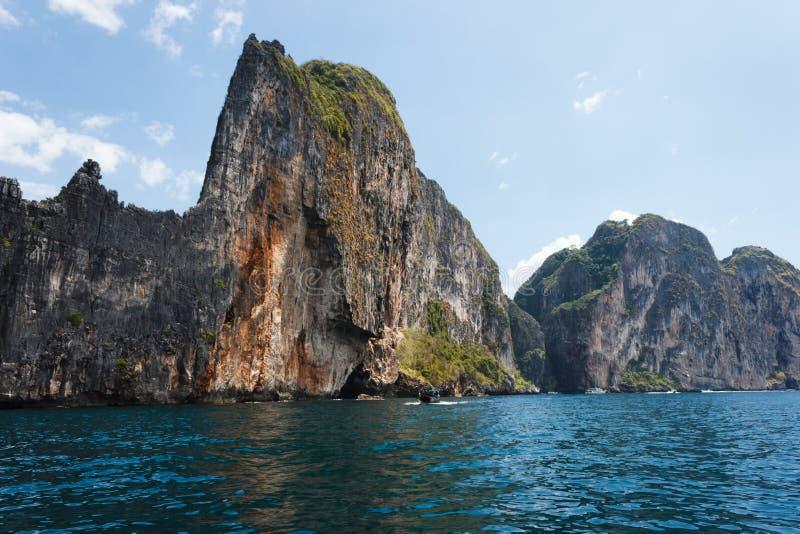The island of pee pee leh Krabi. Thailand royalty free stock images