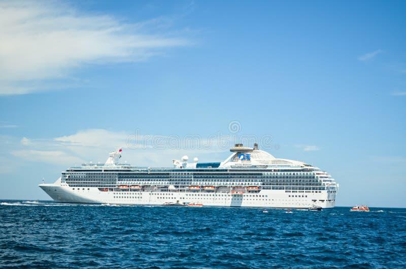 Island Princess cruise ship anchored in the port of Cabo San Lucas, Baja California, Mexico, 2019 stock image