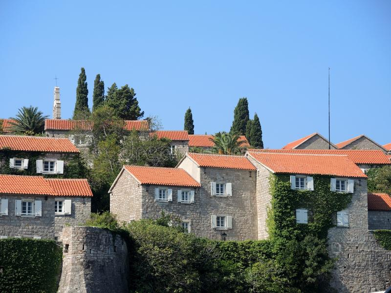 The island resort of Sveti Stefan, Montenegro royalty free stock photos