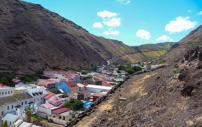 Island of Saint Helena made of Volcanic rock stock photo