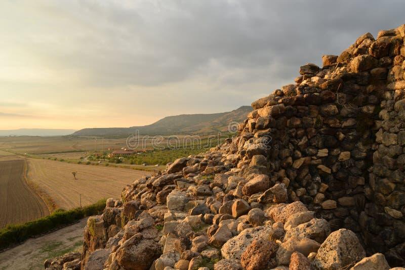 Island of Sardinia, Italy. Archaeological site Nuraghi of Barumini royalty free stock photography