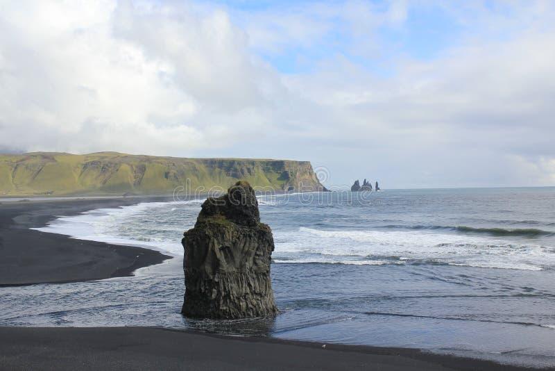 Island, schwarzer Sandstrand stockfoto