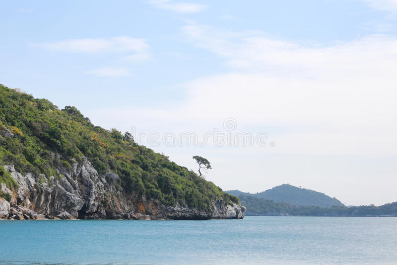Island and sea landscapes of Ko Sichang in Chonburi province. Island and sea landscapes of Ko Sichang in Chonburi province,Famous tourist attractions in royalty free stock photo