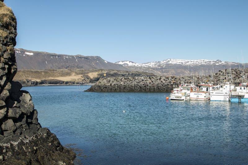 Island, sjöar, vattenfall, glaciärer och landskap arkivbilder