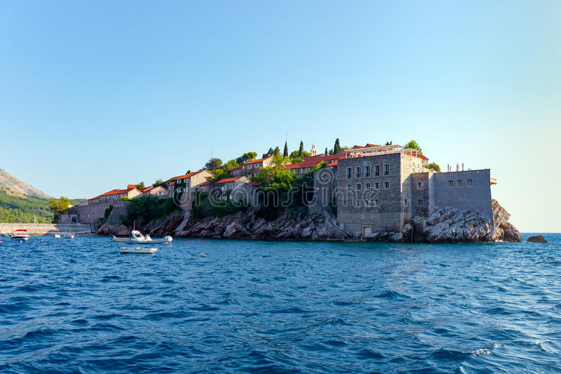 Island of St. Stephen in the Adriatic Sea stock photos