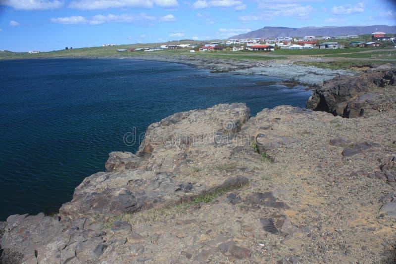 Island stad arkivfoto